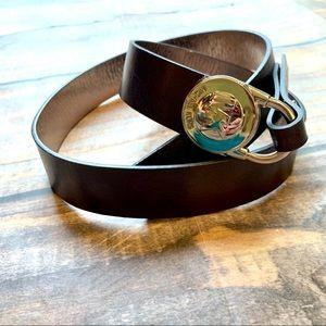 Michael Kors Genuine Leather Belt Large Brown